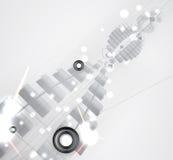 Fondo futuristico astratto di affari di tecnologie informatiche di dissolvenza fotografia stock
