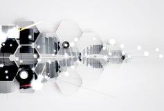 Fondo futuristico astratto di affari di tecnologie informatiche di dissolvenza fotografia stock libera da diritti