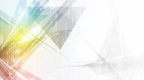 Fondo futuristico astratto di affari di tecnologie informatiche di dissolvenza Fotografie Stock