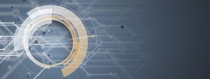 Fondo futuristico astratto di affari di tecnologie informatiche illustrazione di stock