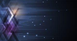 Fondo futuristico astratto di affari di tecnologie informatiche di dissolvenza illustrazione di stock