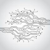 Fondo futuristico astratto di concetto del circuito di tecnologia, illustrazione di vettore illustrazione vettoriale