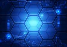 Fondo futuristico astratto di tecnologia di HUD dell'interfaccia vettore dell'illustrazione royalty illustrazione gratis