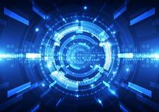 Fondo futuristico astratto di tecnologia digitale Illustrazione Fotografie Stock