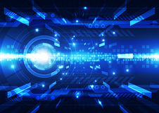 Fondo futuristico astratto di tecnologia digitale Illustrazione Immagine Stock
