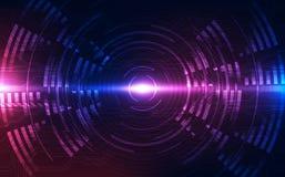 Fondo futuristico astratto di tecnologia digitale vettore dell'illustrazione