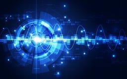 Fondo futuristico astratto di tecnologia digitale vettore dell'illustrazione Fotografie Stock
