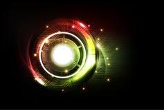 Fondo futuristico astratto di tecnologia, vettore Fotografie Stock