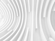Fondo futuristico bianco astratto della parete del tunnel Immagini Stock