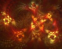 Fondo futuristico d'ardore dell'estratto con effetto della luce per progettazione creativa illustrazione vettoriale