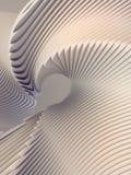 Fondo futuristico del modello bianco della banda 3d rendono l'illustrazione illustrazione vettoriale