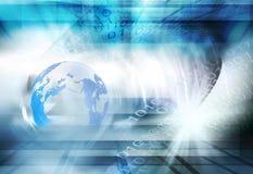 Fondo futuristico del mondo di Digital Immagini Stock Libere da Diritti