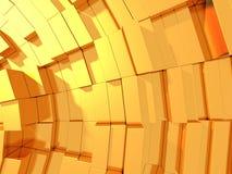 Fondo futuristico dell'estratto dorato dei cubi Fotografia Stock Libera da Diritti