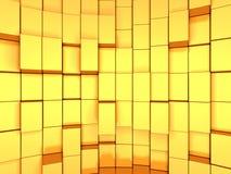 Fondo futuristico dell'estratto dorato dei cubi Immagine Stock Libera da Diritti