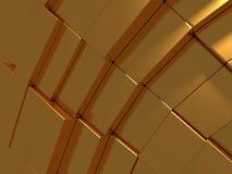 Fondo futuristico dell'estratto dorato dei cubi Immagini Stock Libere da Diritti