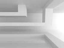 Fondo futuristico di architettura astratta bianca Fotografia Stock Libera da Diritti