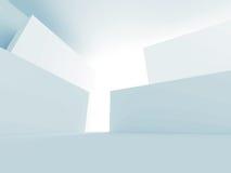 Fondo futuristico di architettura bianca astratta Immagini Stock
