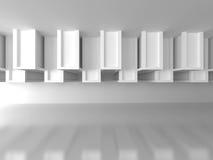 Fondo futuristico di architettura bianca astratta Immagine Stock Libera da Diritti