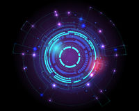 Fondo futuristico di concetto del modello di tecnologia di fi di sci, illustrazione di stock