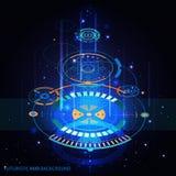 Fondo futuristico di HUD illustrazione vettoriale