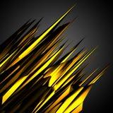 Fondo futuristico di moto nero del poligon dell'oro Immagini Stock Libere da Diritti