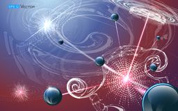 Fondo futuristico di nanotecnologia illustrazione di stock