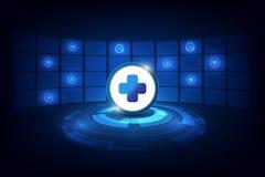 Fondo futuristico di progettazione di sanità di tecnologia astratta di concetto royalty illustrazione gratis