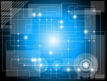 Fondo futuristico di tecnologia Immagini Stock