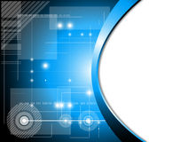 Fondo futuristico di tecnologia Fotografie Stock