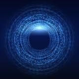 Fondo futuristico di tecnologia della matrice astratta di fantascienza Immagini Stock