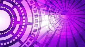 Fondo futuristico di tecnologia di Violet Abstract illustrazione di stock
