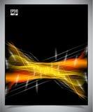 Fondo futuristico moderno nero e giallo Fotografia Stock