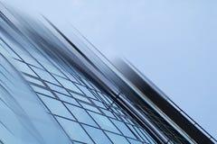 Fondo futuristico urbano di architettura della città moderna astratta di affari Concetto del bene immobile, mosso, riflessione de Fotografie Stock Libere da Diritti
