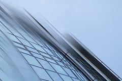 Fondo futuristico urbano di architettura della città moderna astratta di affari Concetto del bene immobile, mosso, riflessione de Immagine Stock Libera da Diritti