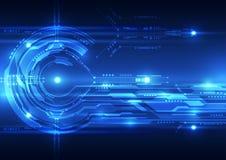 Fondo futuro abstracto del concepto de la tecnología, ejemplo del vector