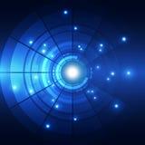 Fondo futuro abstracto del concepto de la tecnología, ejemplo del vector ilustración del vector