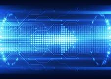 Fondo futuro astratto del sistema di tecnologia di velocità, illustrazione di vettore illustrazione vettoriale