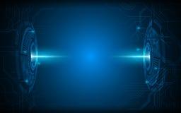 Fondo futuro astratto di concetto dell'innovazione di progettazione di visione di tecnologia royalty illustrazione gratis