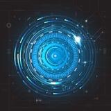 Fondo futuro astratto di concetto di tecnologia Fotografie Stock