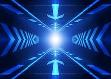 Fondo futuro astratto di concetto di tecnologia, illustrazione di vettore illustrazione di stock