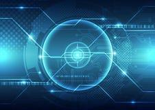 Fondo futuro astratto di concetto di tecnologia, illustrazione di vettore royalty illustrazione gratis