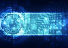 Fondo futuro astratto di concetto di tecnologia, illustrazione di vettore Fotografia Stock
