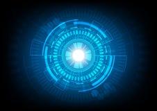 Fondo futuro astratto di concetto di tecnologia e illustr Immagine Stock