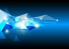 Fondo futuro astratto di tecnologia illustrazione di stock
