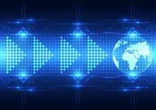 Fondo futuro astratto di tecnologia di download, illustrazione di vettore illustrazione di stock