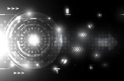 Fondo futuro in bianco e nero di concetto di tecnologia di tecnologia del backgroundAbstract futuro in bianco e nero astratto di  Immagine Stock Libera da Diritti