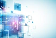Fondo futuro di tecnologia di ingegneria astratta illustrazione di stock