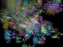 Fondo futuro digital abstracto etéreo stock de ilustración