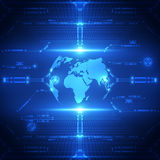 Fondo futuro globale astratto del sistema di tecnologia, illustrazione di vettore illustrazione di stock