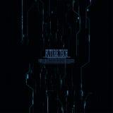 Fondo futuro negro abstracto del circuito de la tecnología del vector Fotografía de archivo